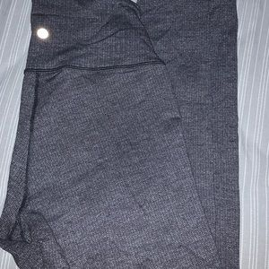 grey lululemon leggings size 8